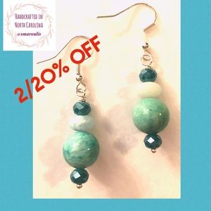 Sterling Silver Earrings 2 Types Amazonite Sublime